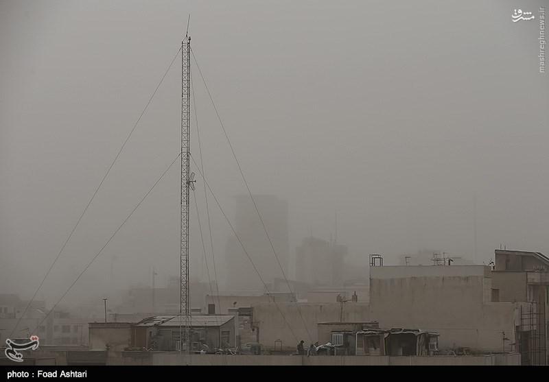 گرد و غبار تهرانی ها را غافلگیر کرد+عکس