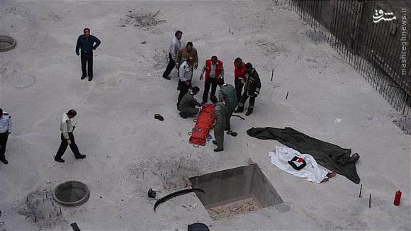 سقوط مرگبار خودرو به گودال 15متری+تصاویر