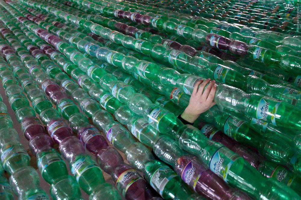 ابتکار با بطری های خالی