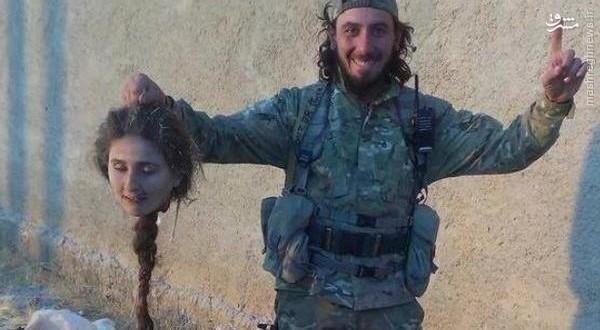 عکس/سربریده دختر کُرد دردستان یک داعشی
