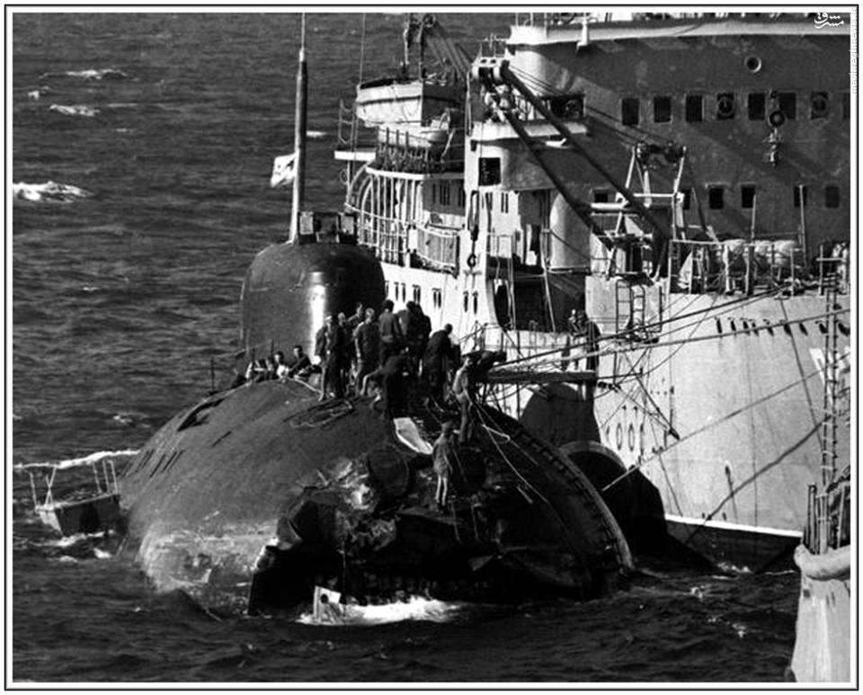 عکس/ زیردریایی اتمی بعد از تصادف
