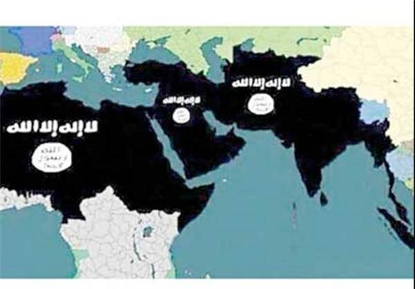 نقشه جدید قلمرو خلافت خودخوانده داعش