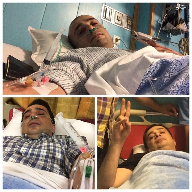 عکس/سپند امیر سلیمانی در بستر بیماری