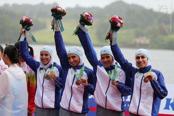 عکس/ بانوان مدال آور ایران در روئینگ
