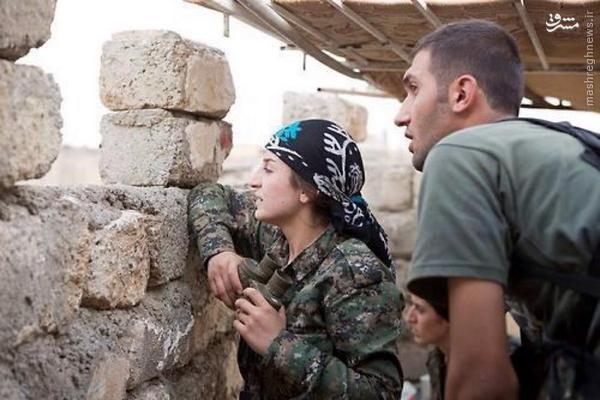 فرمانده زن نظامیان کوبانی +عکس