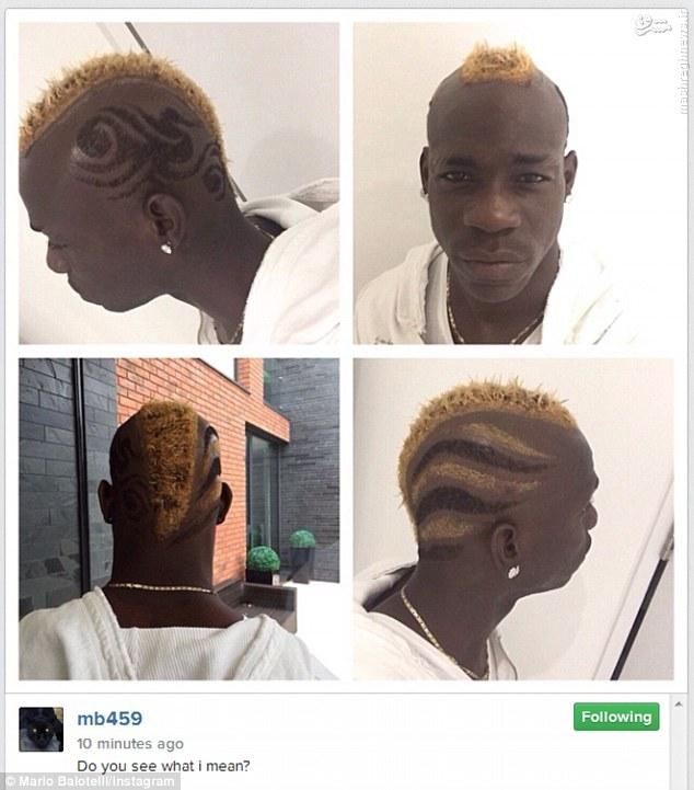 عکس/مدل موی جدید فوتبالیست پرحاشیه