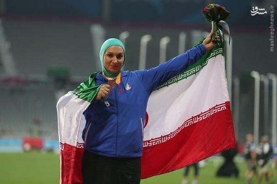عکس/ اولین مدال تاریخ بانوان در دوومیدانی