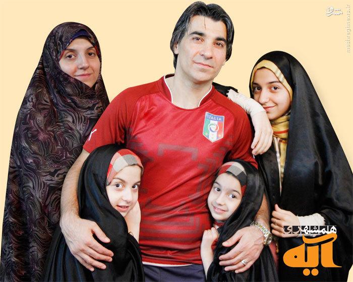 عکس/همسر ودختران باحجاب فوتبالیست معروف