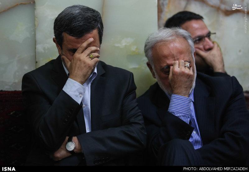 عکس/ احمدینژاد در مراسم ختم والدهی آیتالله شاهرودی