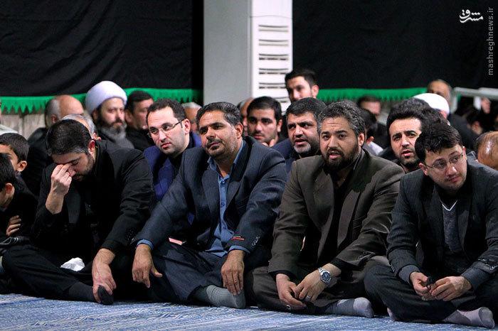 عکس/ عزاداری باکری درمحضر رهبرانقلاب