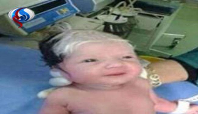 نوزاد لبنانی، پیرمرد به دنیا آمد +عکس