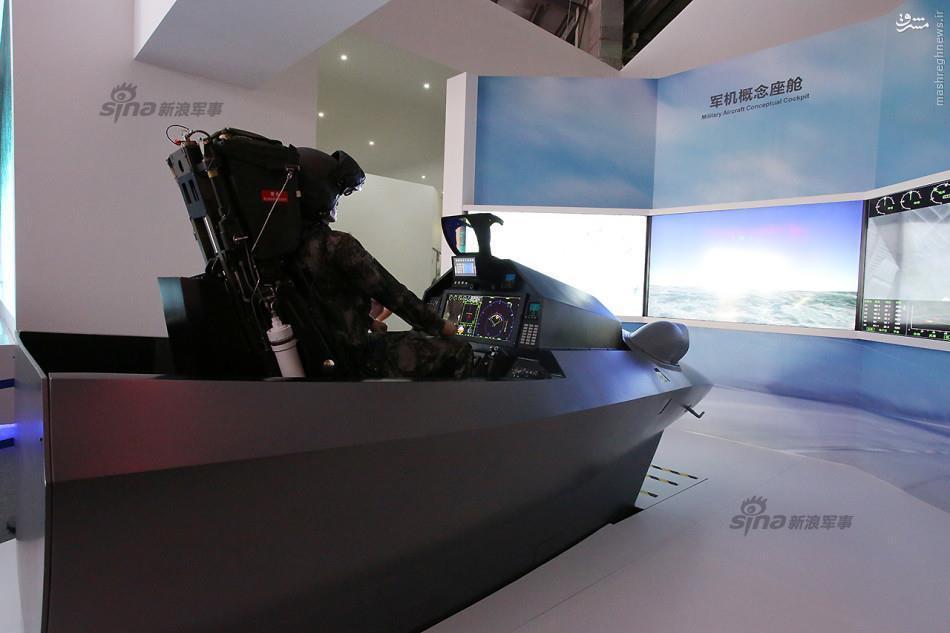عکس/ کابین پیشرفته جنگنده J-31