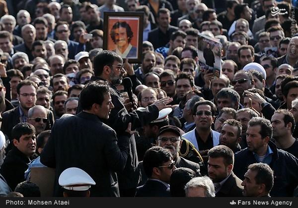 عکس/ سردار احمدی مقدم و رادان در مراسم تشییع