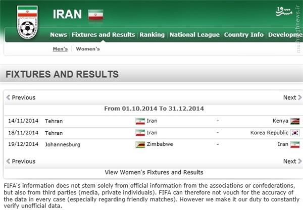 2 دیدار دوستانه ایران در سایت فیفا +عکس