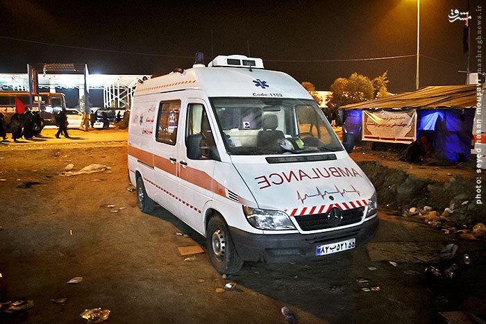 عکس/ اعزام آمبولانس های ایرانی به کربلا