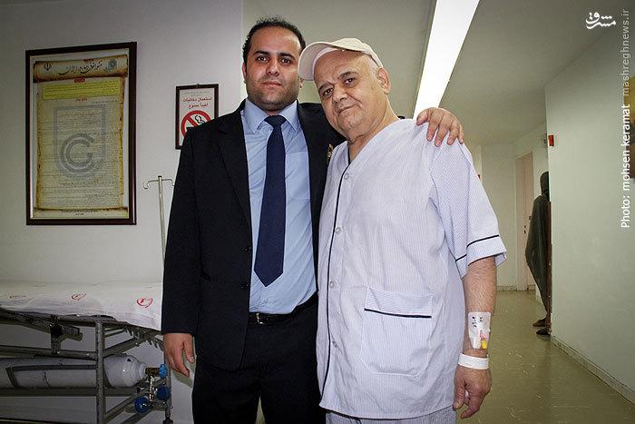 اکبر عبدی در بیمارستان