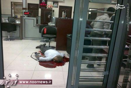عکس/ کشته شدن نگهبان بانک در لار(18+)