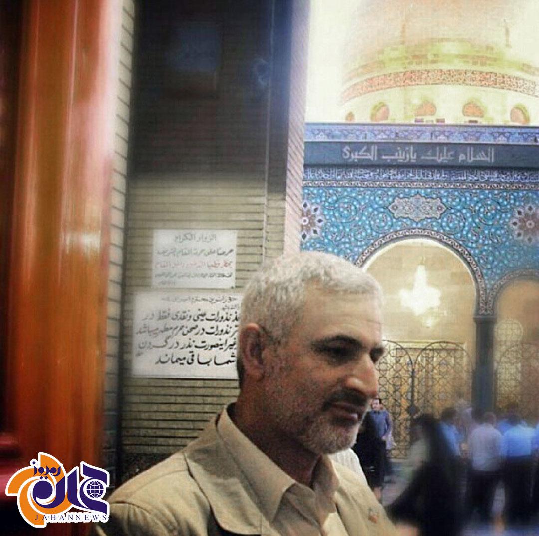 عکس/ سردار سازندگی لبنان در حرم حضرت زینب(س)
