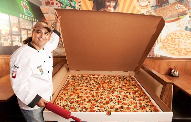 عکس/ بزرگ ترین پیتزای قابل حمل در جهان