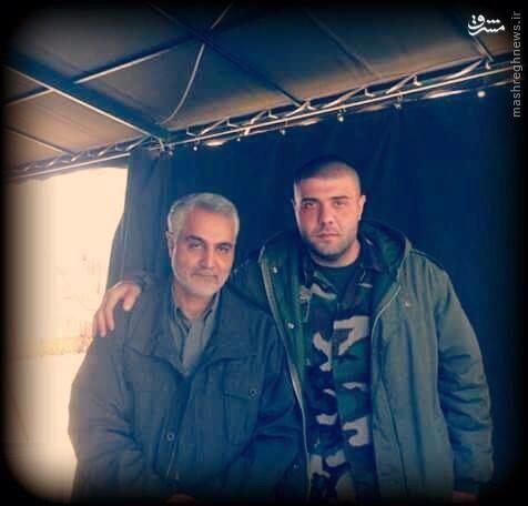 عکس/ حاج قاسم در کنار پسرعموی بشار اسد