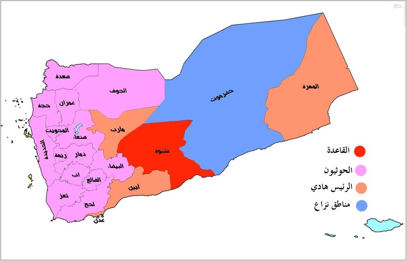 هرآنچه لازم است، درباره پراکندگی و انتشار نظامی نیروها در یمن بدانید و مناطق نفوذ هریک از آنها