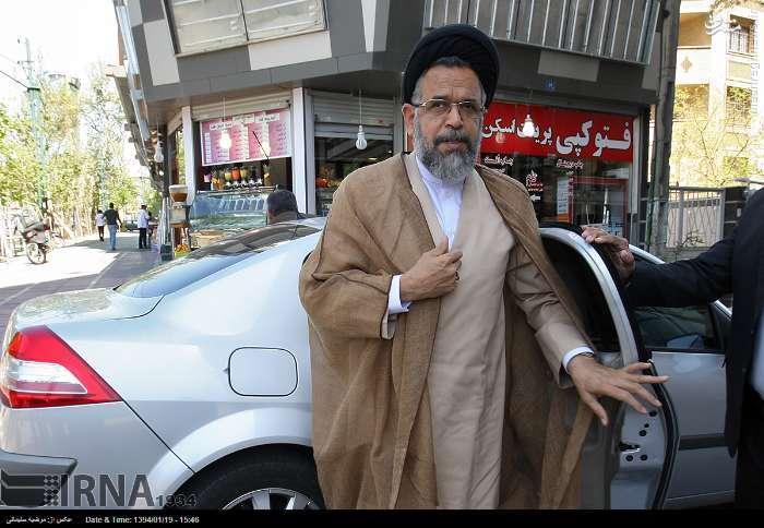 عکس/ ماشین وزیر اطلاعات