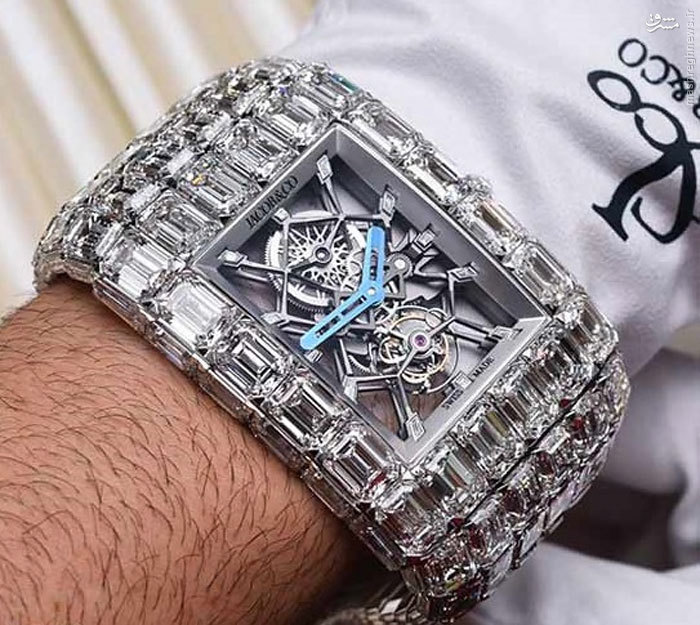 ساعت الماس 54 میلیارد تومانی