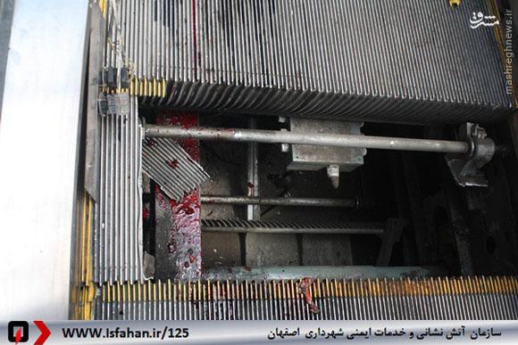 پله برقی کارگر اصفهانی را تکه تکه کرد