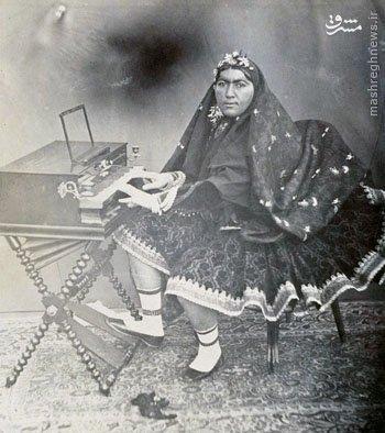 عکس/ ملکه محبوب ناصرالدین شاه