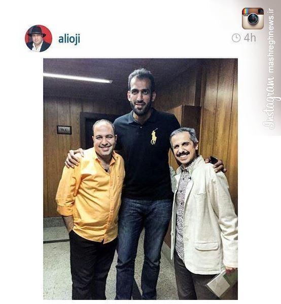 عکس/ جواد رضویان در کنار بلند ترین مرد ورزشکار ایران