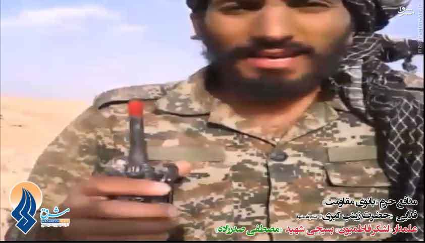 فیلم/ رجزخوانی «مدافع حرم» برای «داعش»