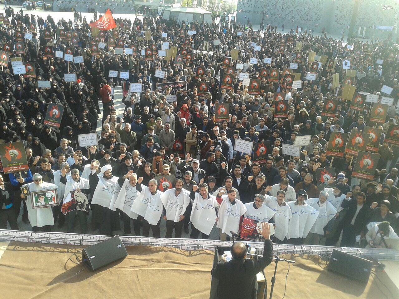 آغاز تجمع مردم و دانشجویان علیه آل سعود در میدان امام حسین(ع)