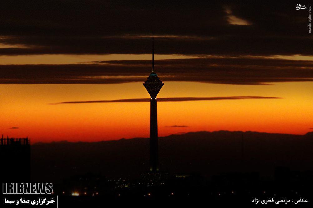 عکس/ غروب دیدنی تهران پس از دو هفته