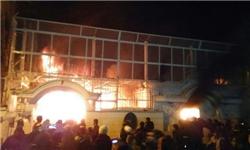 یک مقام امنیتی: آتش قبل از حضور معترضان در ساختمان سفارت عربستان شعله ور شده بود