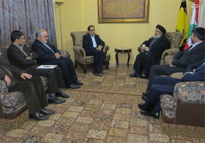 دیدار وزیر بهداشت ایران با سیدحسن نصرالله +عکس