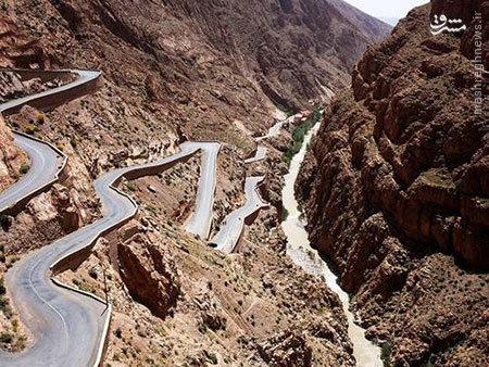 عکس/ خطرناکترین جاده جهان