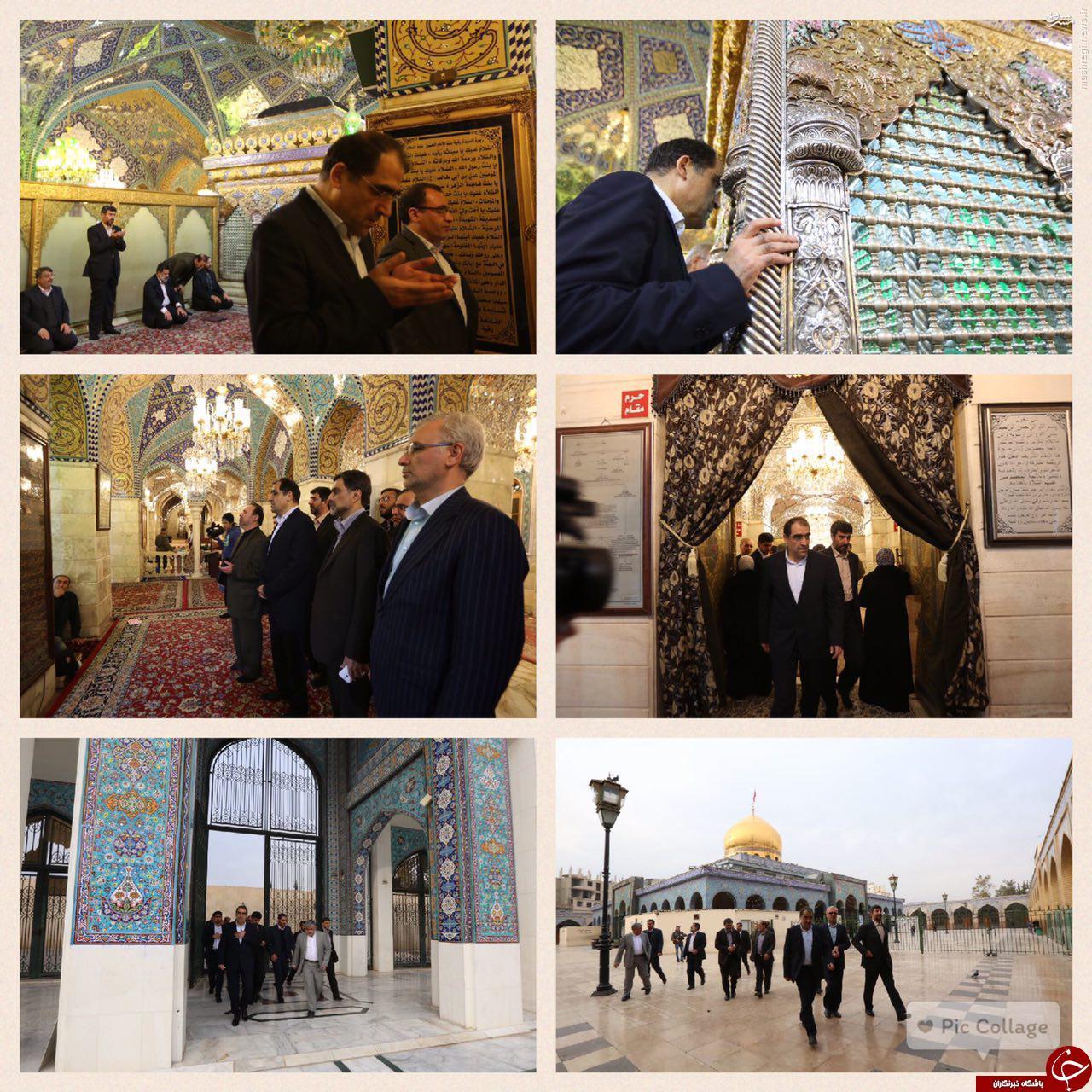 وزیر بهداشت در حرم حضرت زینب و رقیه (س)+ عکسوزیر بهداشت شب گذشته از لبنان عازم سوریه شد و به زیارت حرمین حضرت زینب (س) و رقیه (س) رفت.