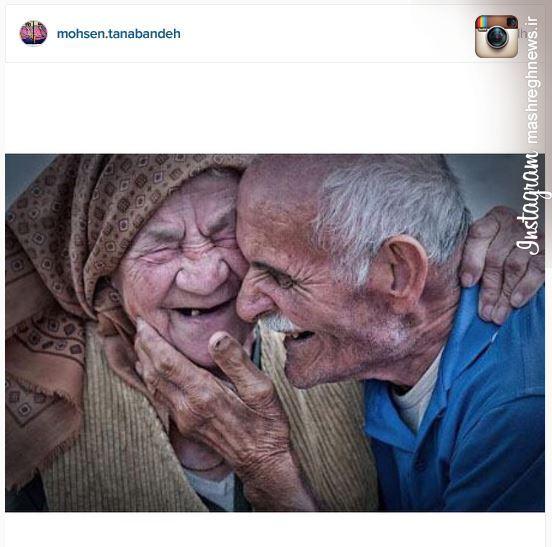 عکس/ پست اینستاگرامی تنابنده از خندههای عاشقانه