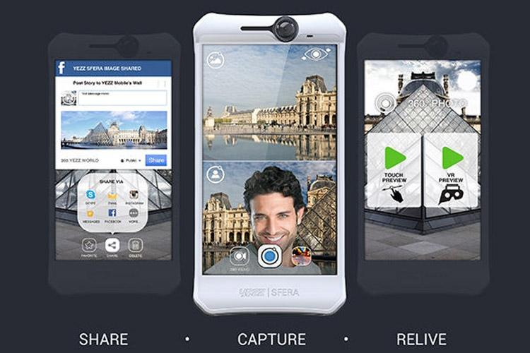 کمپانی Yezz گوشی هوشمند Sfera را با ۲ دوربین ۳۶۰ درجه معرفی کرد