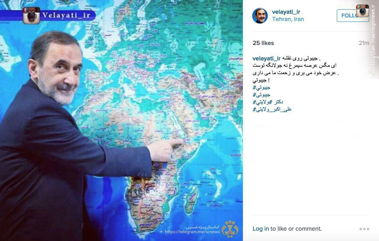 عکس/ کنایه ولایتی به قطع رابطه جیبوتی با ایران