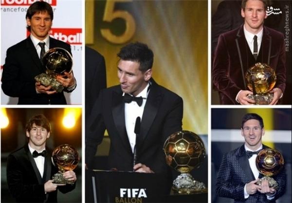 عکس/ همه توپهای طلای مسی