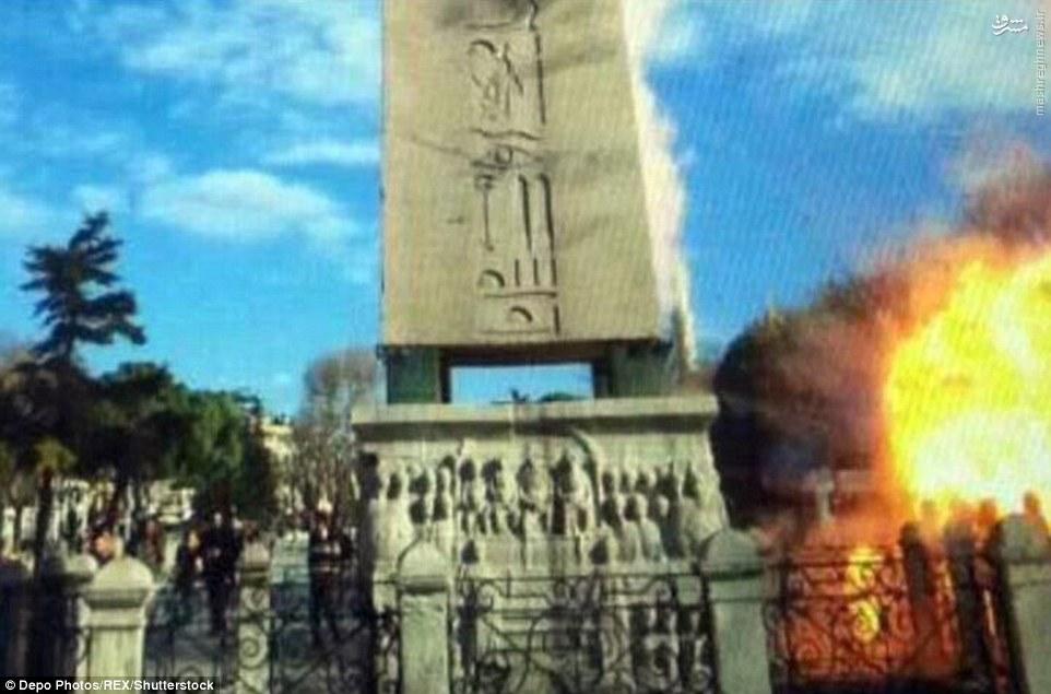 عکسی از لحظه انفجار انتحاری امروز در استانبول