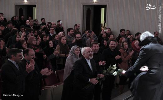 حضور ظریف در جشن تولد یک هنرمند +عکس