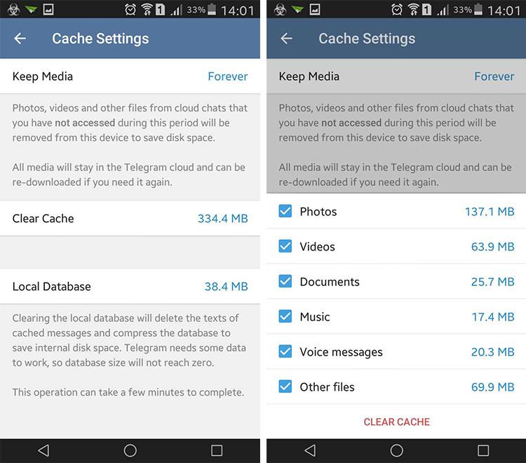 مشکل ذخیره نشدن عکس در تلگرام