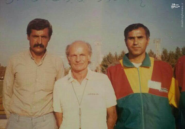 عکسهای کمیاب (94)/ پدر علیرضا فغانی کنار چهره سرشناس فوتبال جهان