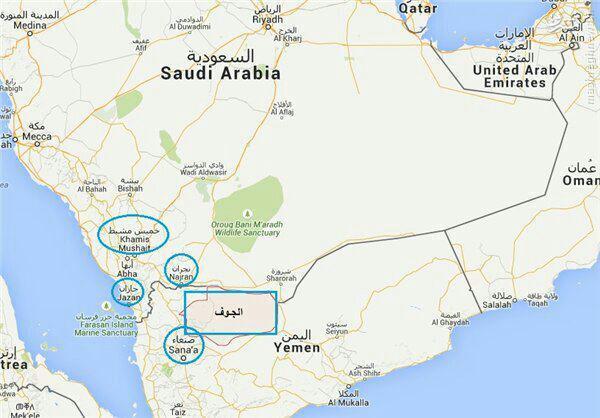 حمله موشکی یمنیها به شرکت نفتی آرامکو عربستان +نقشه
