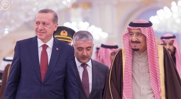 اردوغان به دیدار ملک سلمان رفت +عکس
