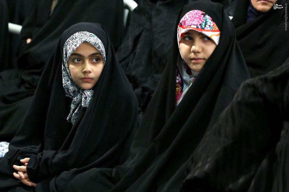 عکس/ دختران طهرانیمقدم و رضایینژاد در دیدار رهبری