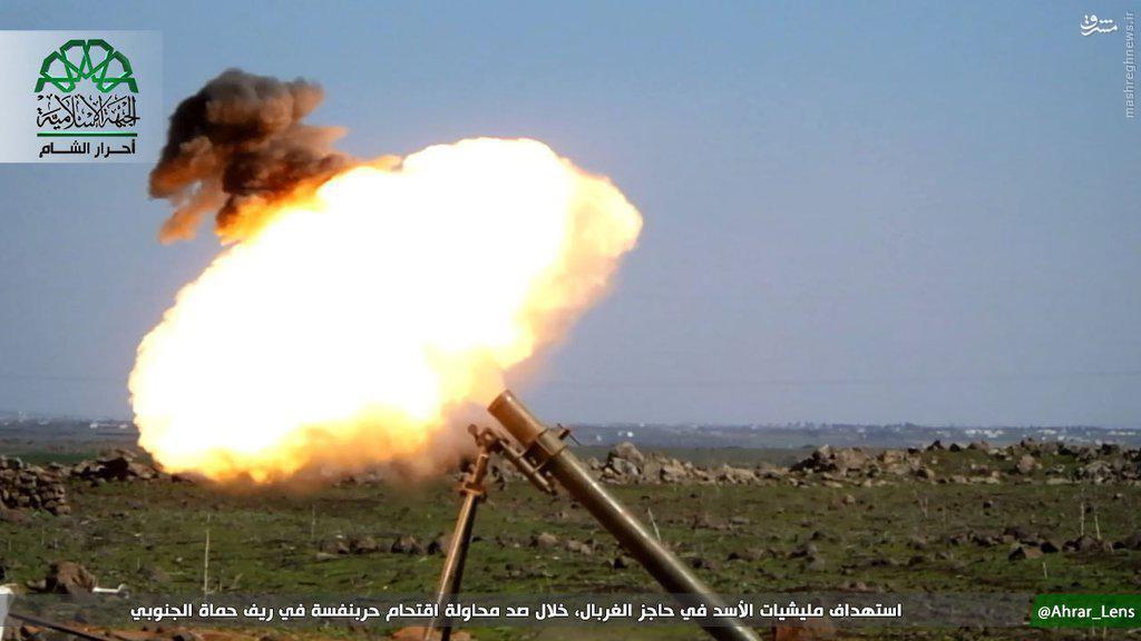 حملات تروریستها به ارتش سوریه در شمال حمص+عکس و فیلم