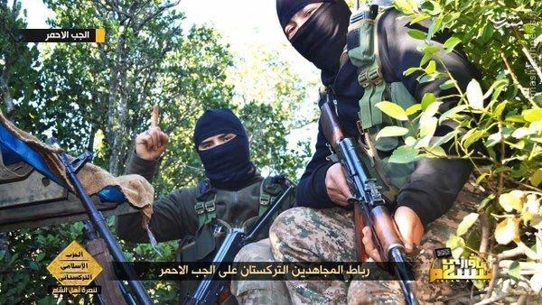اردوگاه تروریستهای چینی در شمال سوریه+عکس